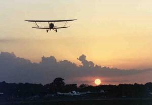 biplane_sunset
