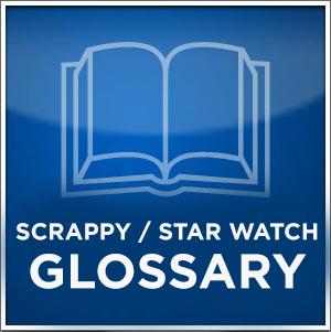 glossary symbol blue